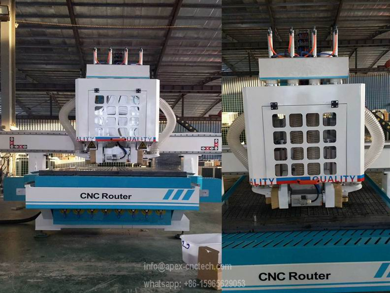 Simple ATC CNC Router with 4 Heads milling, slotting, carving, drilling
