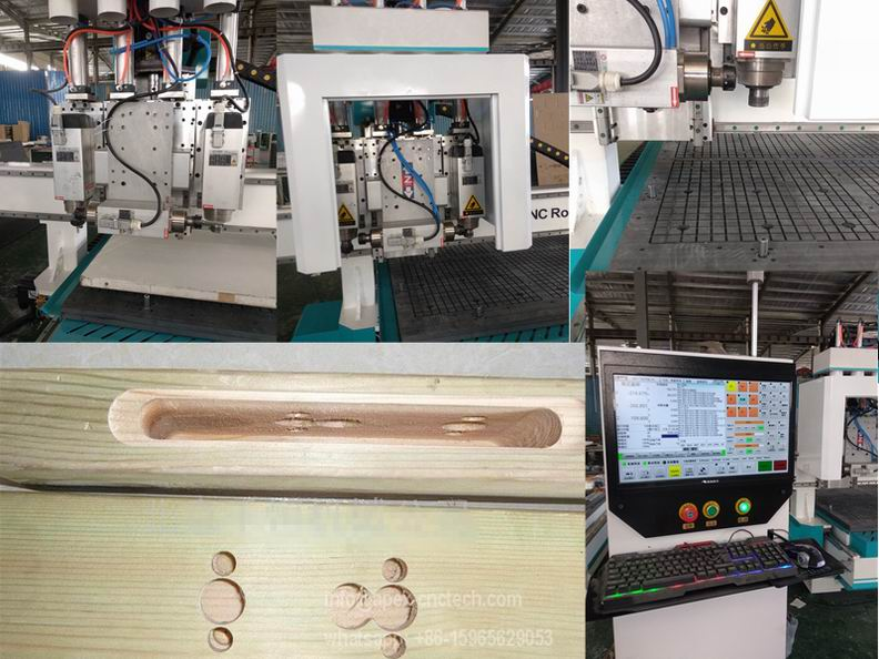 4 Heads CNC Drilling Machine ATC CNC Woodworking Router