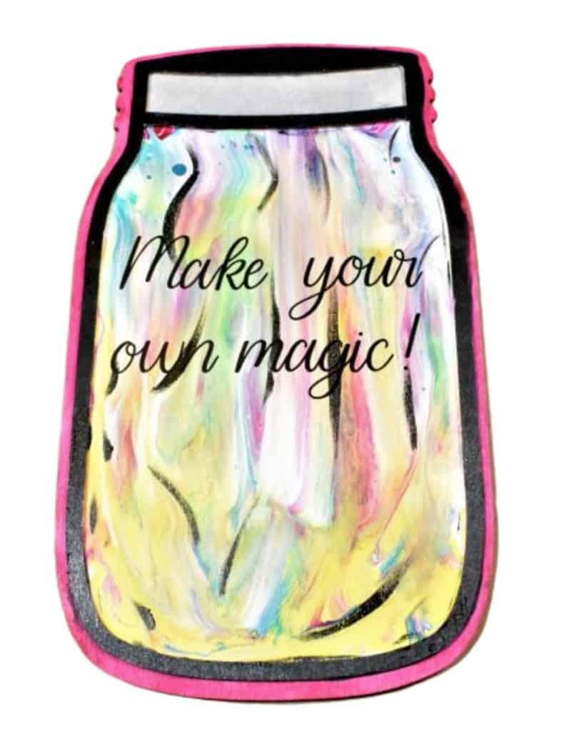 DIY Home Decor Crafts Acrylic Pouring Mason Jar