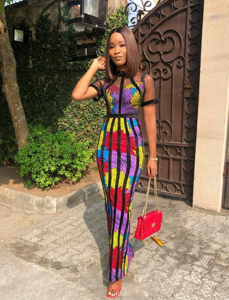 Looki like a diva in this African style dress