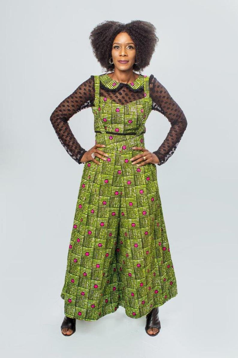 African inspired dungaree pants from Wandizi