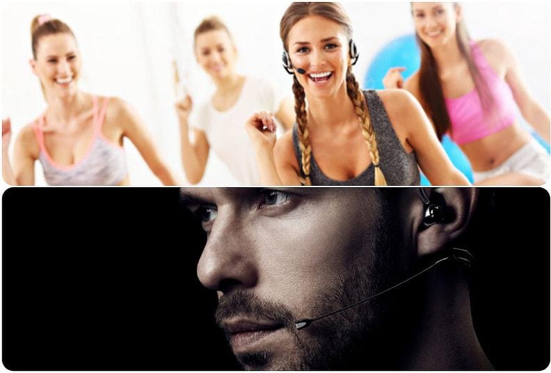 el micrófono inalámbrico diadema se usa para cantar, teatro o fitness