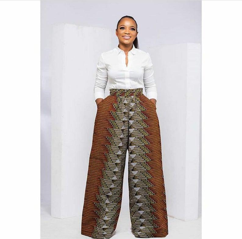 Stylish African wide pants from fabulous Ankara