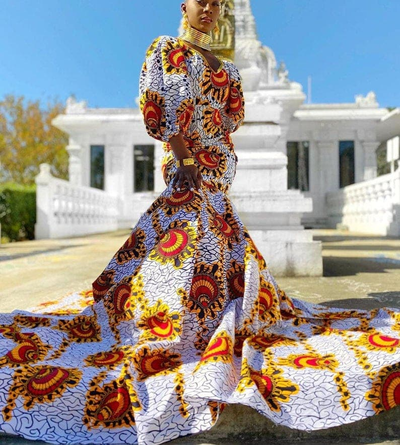 A royal showstopper African style dress
