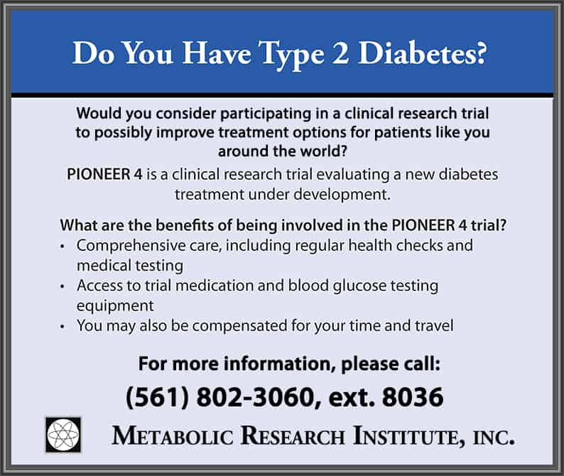 Type 2 Diabetes Clinical Trial Closing Enrollment Soon!