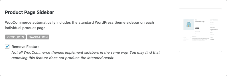 Remove WooCommerce Features - Product Page Sidebar