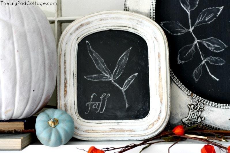 Fall Mantel - Chalkboard art
