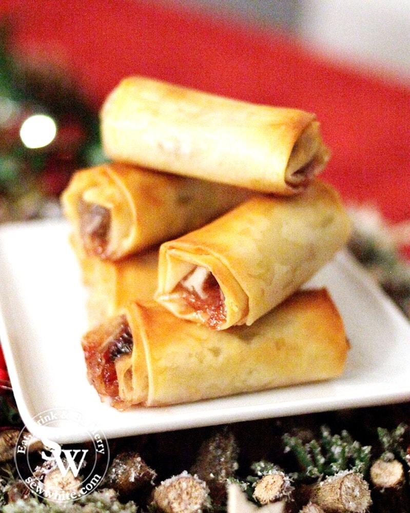 cranberry mincemeat filo Mince Pie Rolls