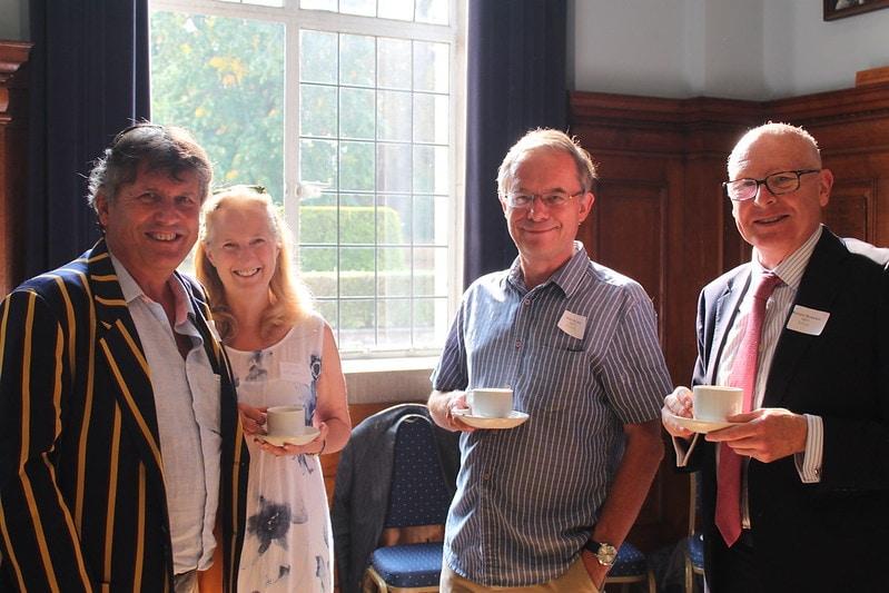 Guy Loosmore, Fiona Loosmore, Nick Burton & Richard Bickerton at the afternoon tea
