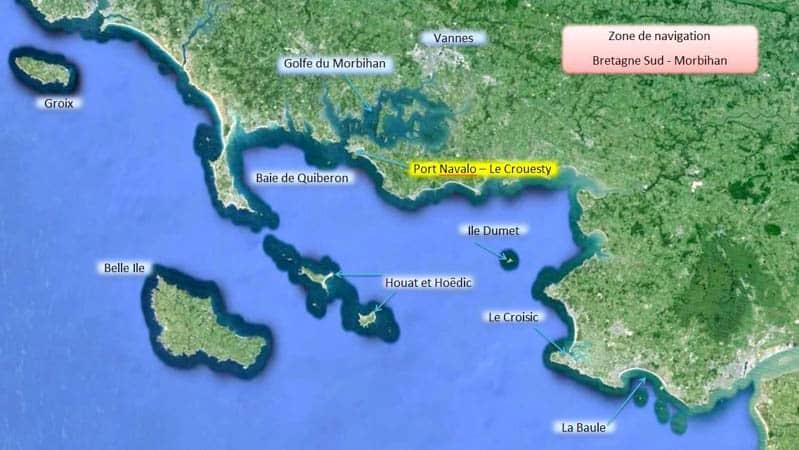 Zone de navigation Bretagne sud