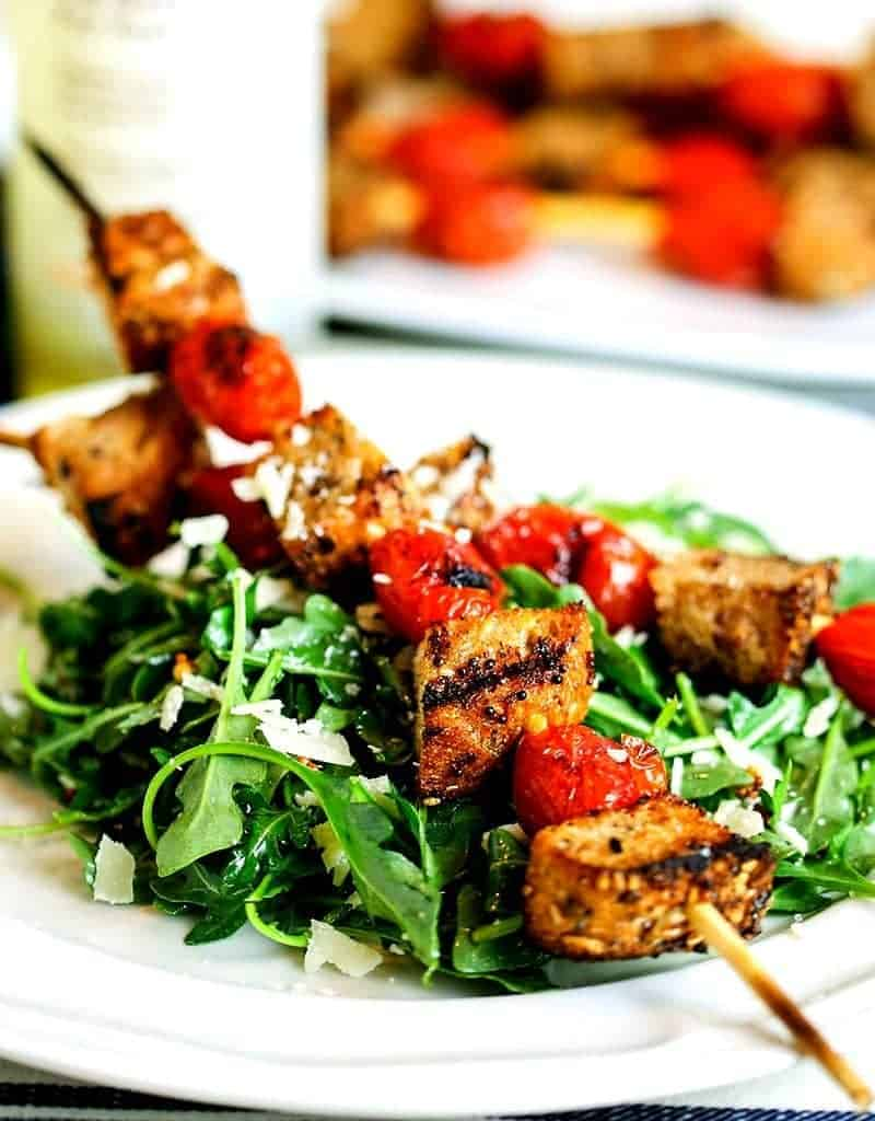 Healthy Panzanella Skewer Salad | Life, Love, and Good Food