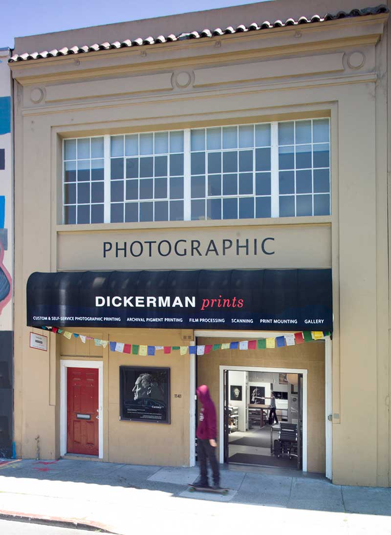 Dickerman Prints first space in San Francisco's Mission District.