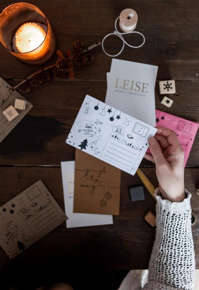 Druckvorlage für die Weihnachtspost - DIY Briefumschläge mt Freebie