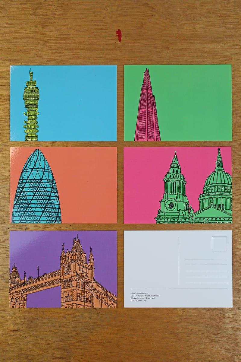 illustrations Jitesh Patel London Tops of Buildings