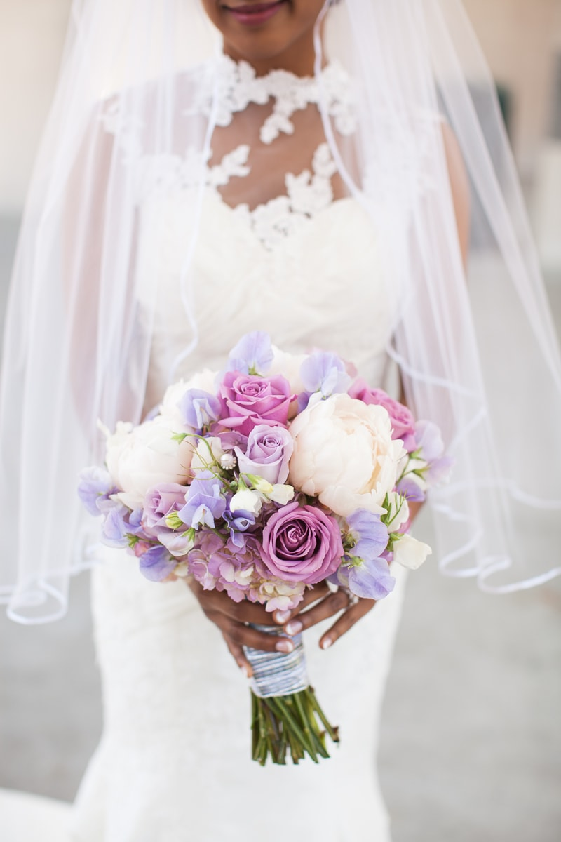 peony, rose, and pearl bridal bouquet