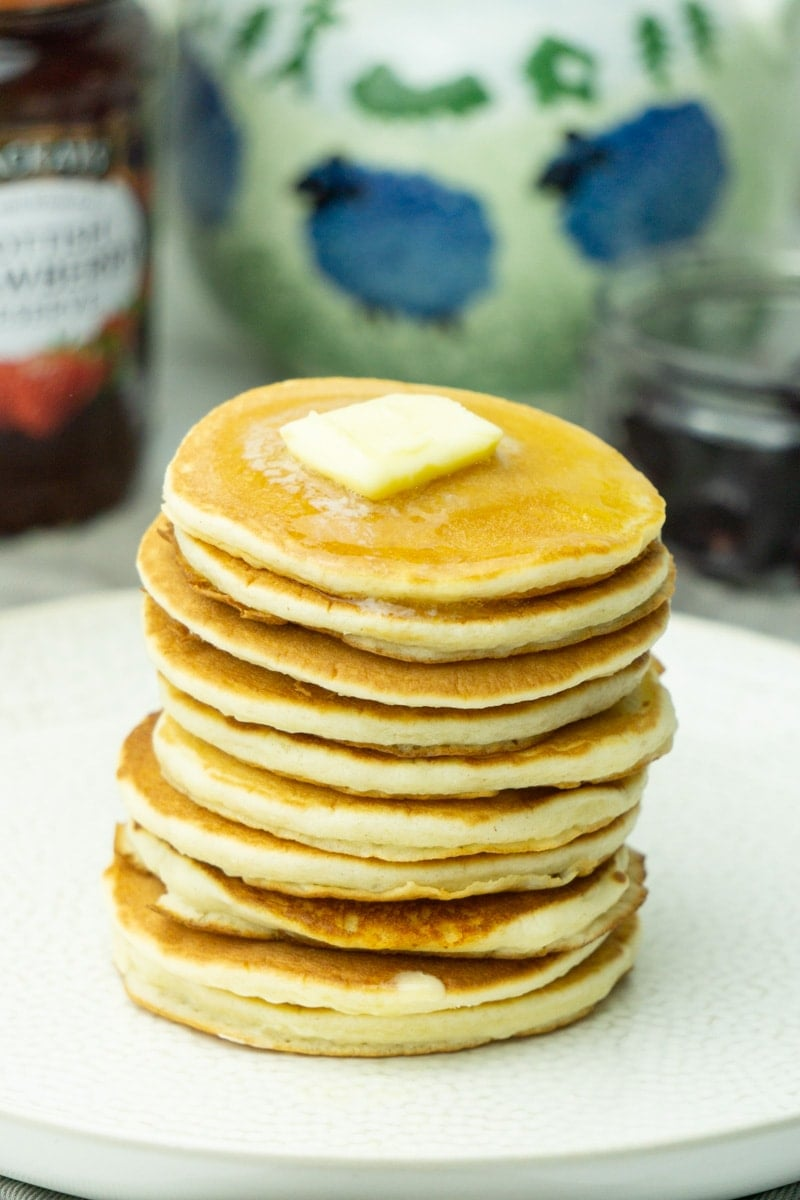 Drop Scone stack topped with butter