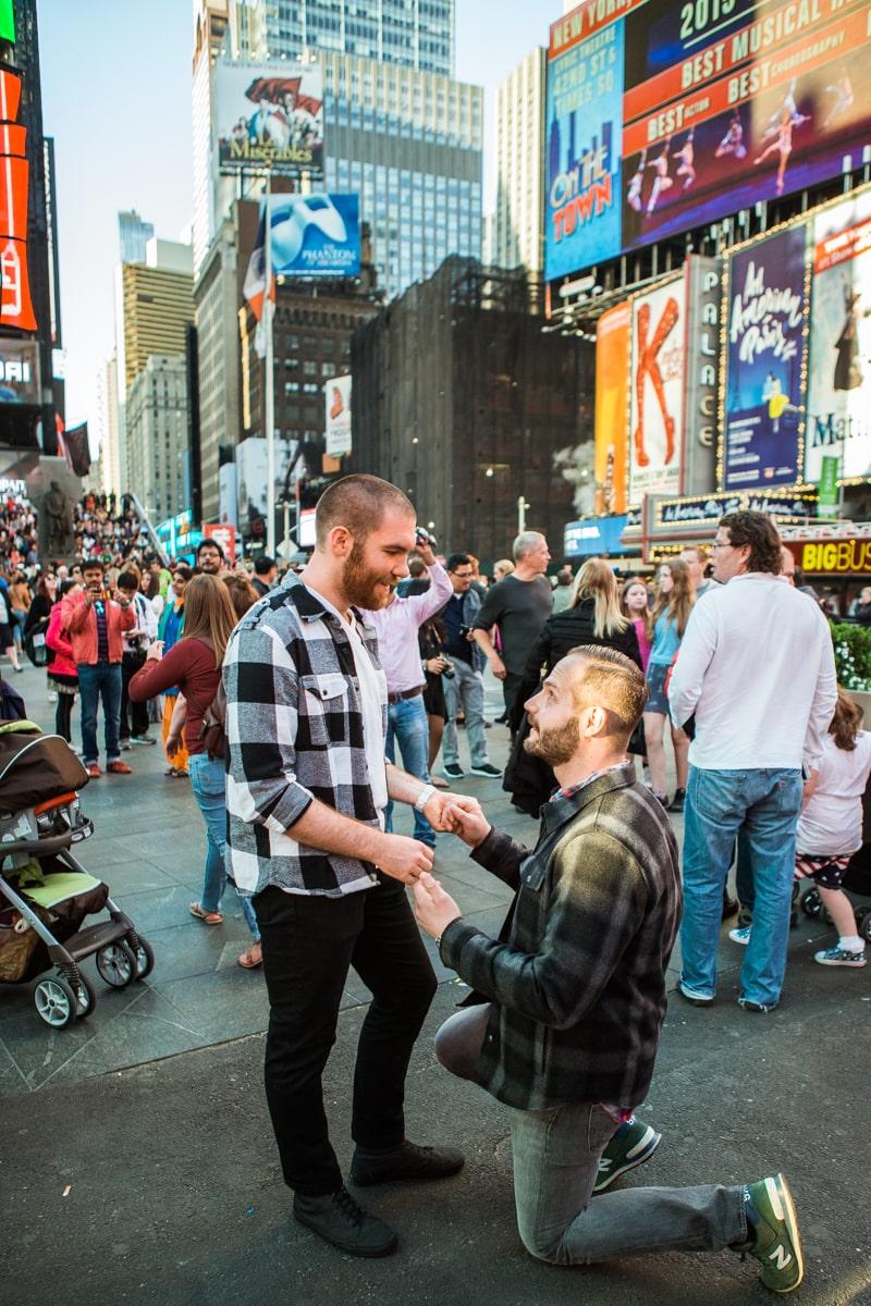 Photo 3 Times Square Marriage Proposal | VladLeto