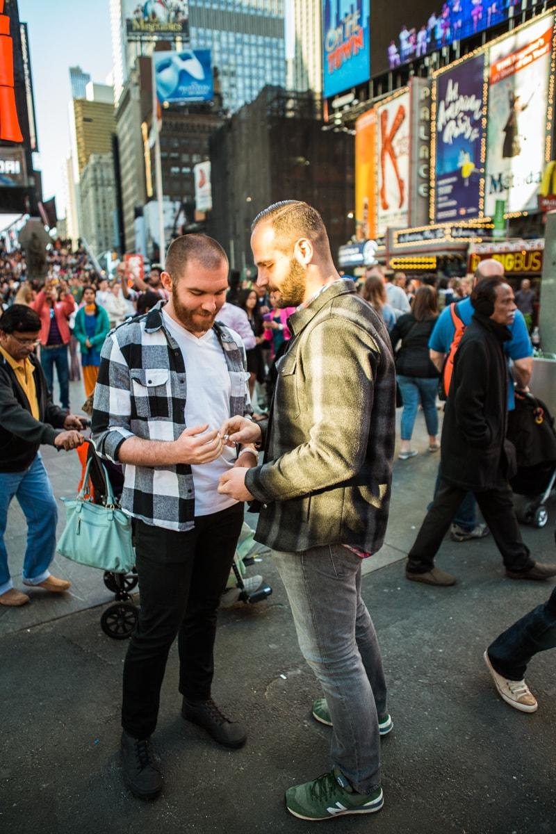 Photo 5 Times Square Marriage Proposal | VladLeto