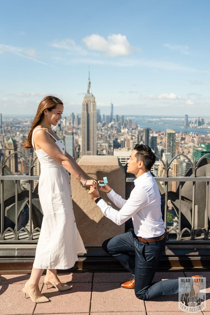 photographer for Top of the Rock Marriage Proposal