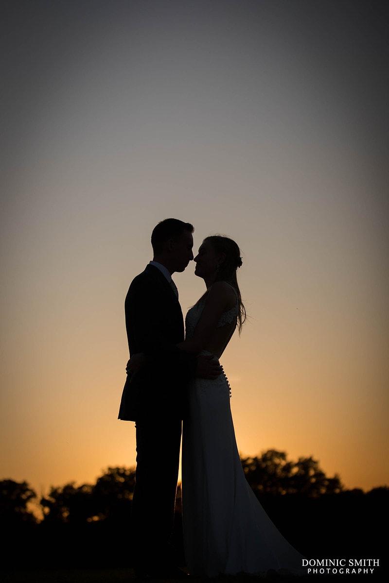 Brookfield Barn Sunset Wedding Photo