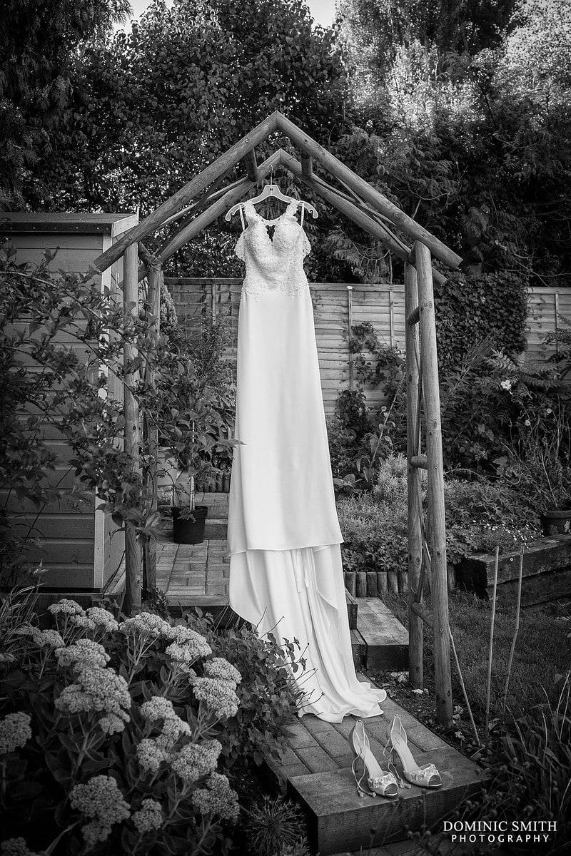 Wedding Dress in Garden