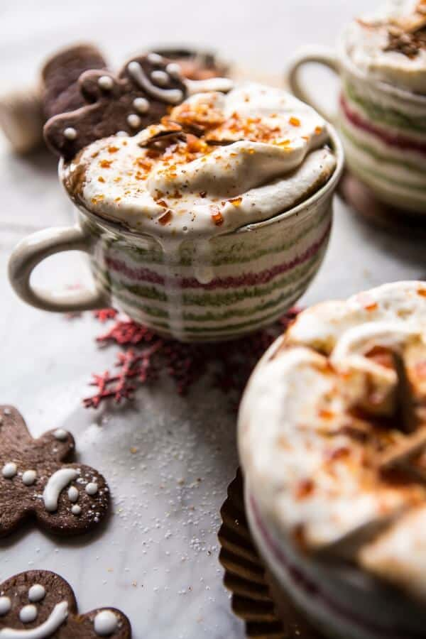 Gingerbread Latte with Salted Caramel Sugar