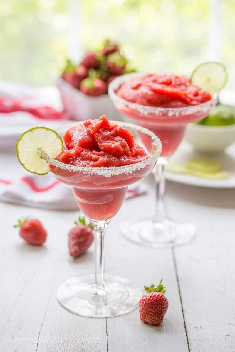 Frozen Strawberry Margarita Saving Room For Dessert