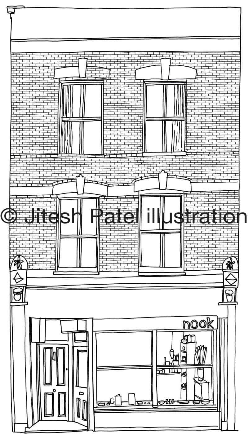 Cedar Communication Agency Stoke Newington High Street Map illustration Jitesh Patel