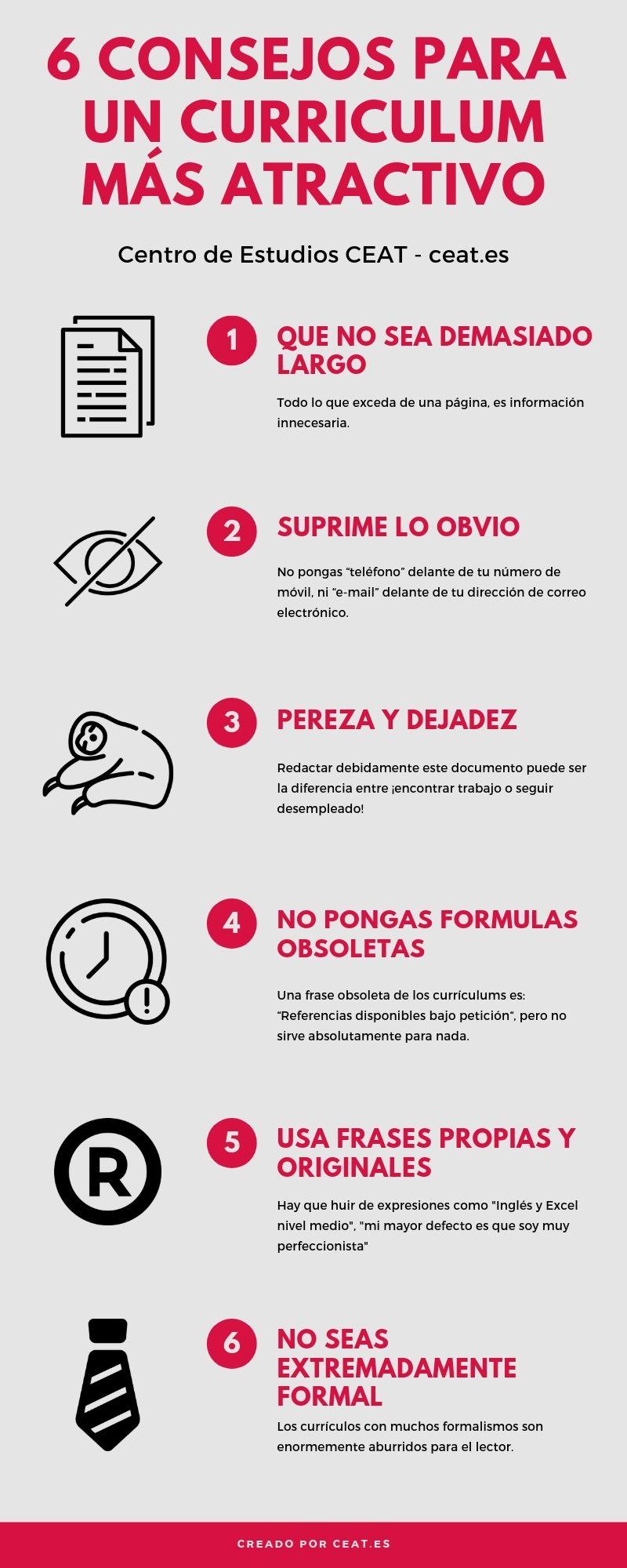 6 Consejos para un curriculum más atractivo
