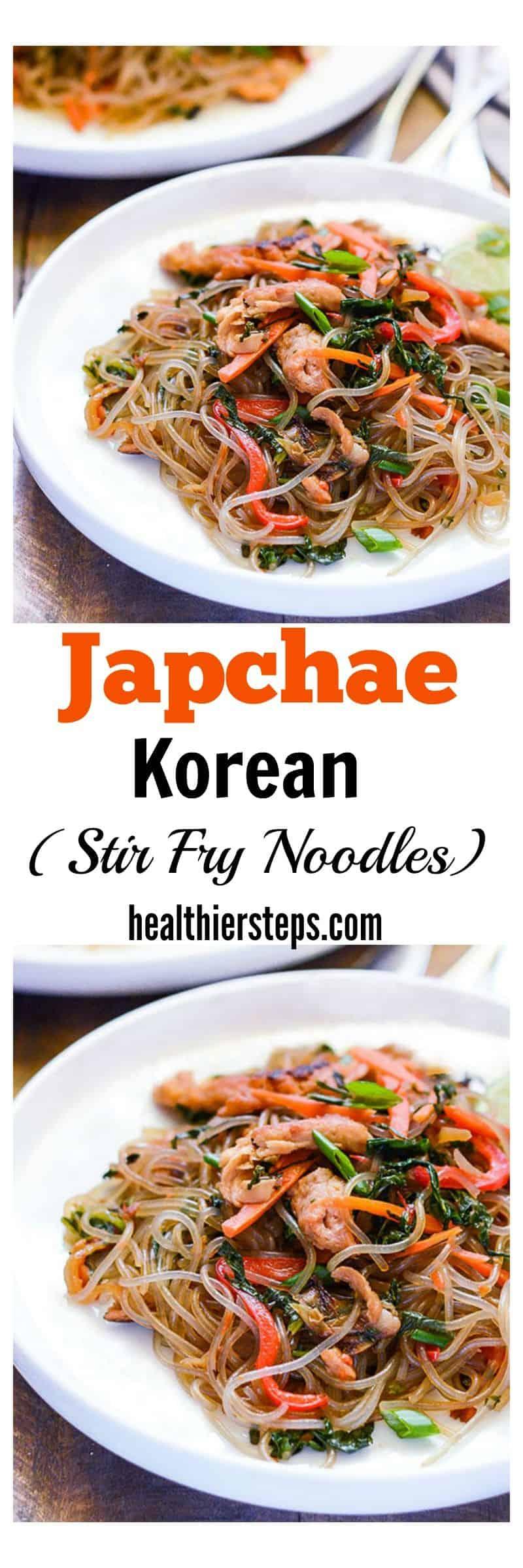 Japchae Korean Stir Fry Noodles