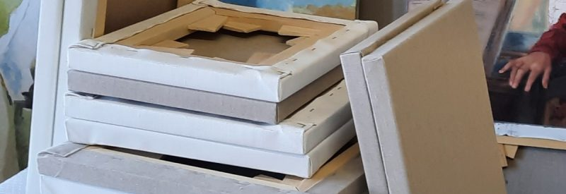 Stretched Belgian Linen Canvases Available