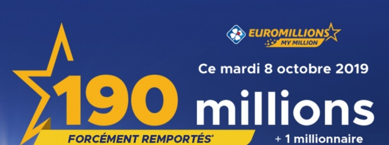 jackpot euromillions mardi 8 octobre 2019 forcement remporte