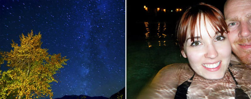 Clear night and stars at mt. princeton hot springs colorado