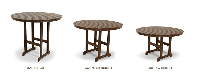 BAR HEIGHT VS COUNTER HEIGHT VS DINING HEIGHT