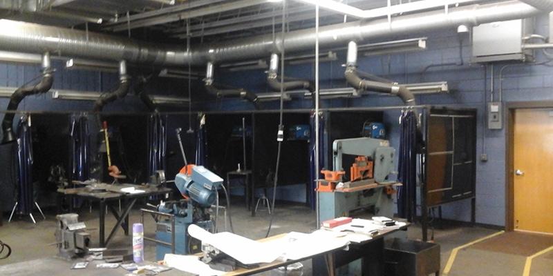 Greenville Branch Installs New Exhaust System