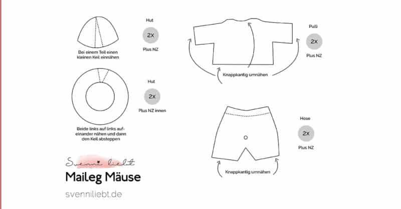 Puppenkleidung für die Maileg Mäuse nähen