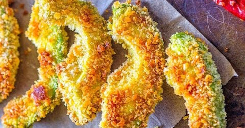 Crispy And Creamy Avocado Fried In Coconut Oil, Complete With Their Heart Healthy Fatty Acids