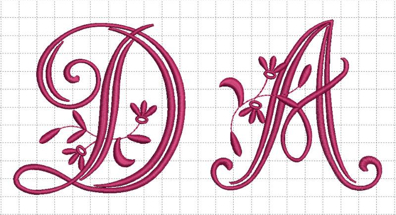 Diseño iniciales bordadas en toallas y textil de hogar.