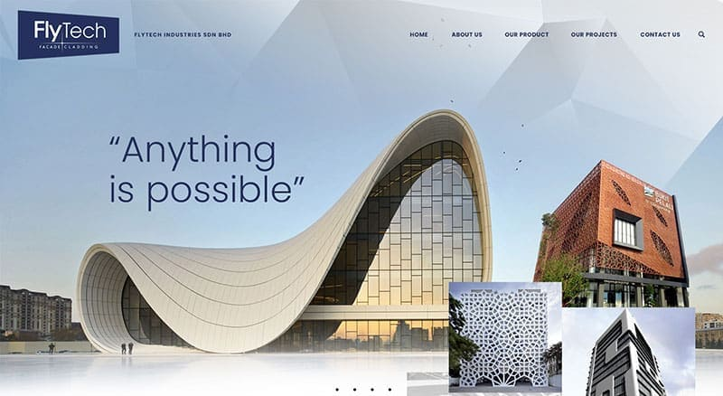 Architecture & Construction company website design inspiration in Malaysia