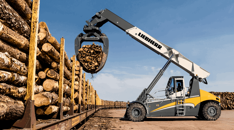Liebherr's latest log handler to launch at Bauma