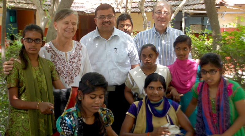 Dr. Toldo with his patients in rural outskirts of Kashi