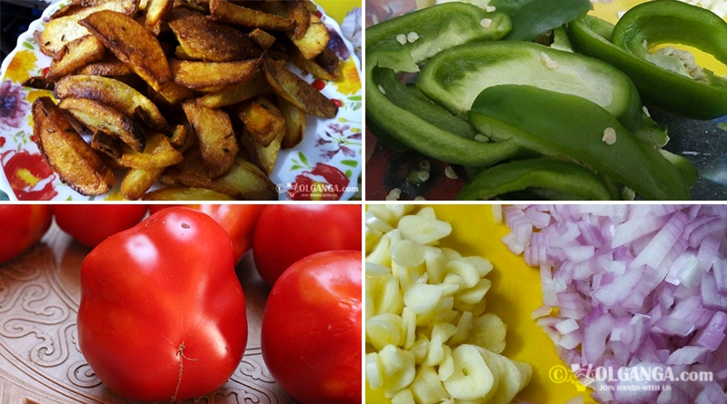 Ingredients for chilli potatoes