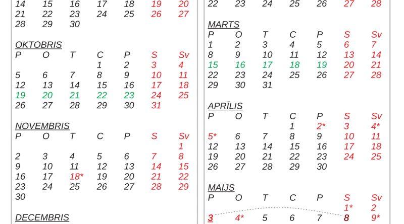 Mācību gada kalendārs 2020./2021.