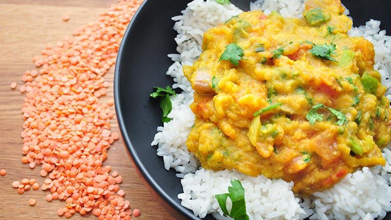 Tadka dal rice