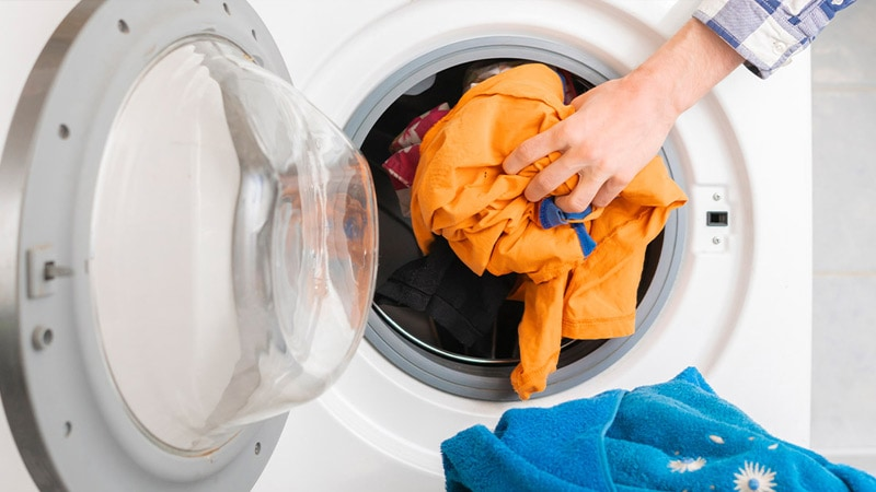 Wash clothes with warm (60°C) water
