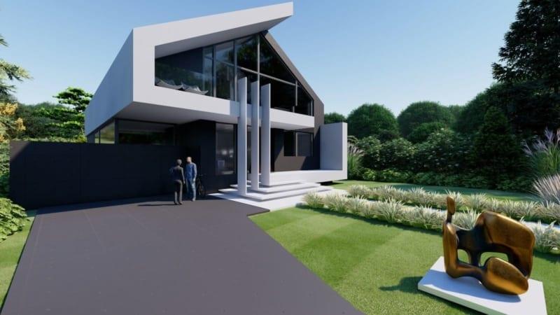 Architektenhaus Bauen Wohnhaus Moderne Architektur