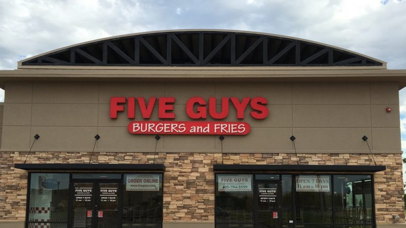 five guys burger & fries store
