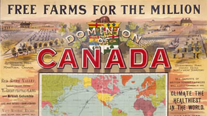 Free farms for the millions - 1890