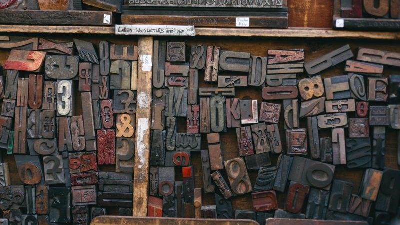 Wood Type Tray at The Old Printing Shop - Portobello Road Market