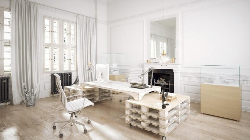 Tavolo con bancali per ufficio